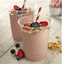 US school meals research banana berry smoothie