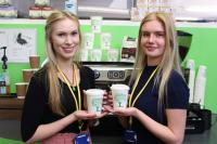 HCL hertfordshire catering hitching girls school compostable cups